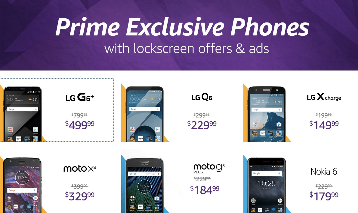 All Amazon Prime Exclusive Phones